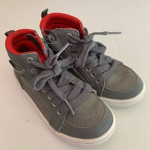 Stride Rite grey and red high top sneakers